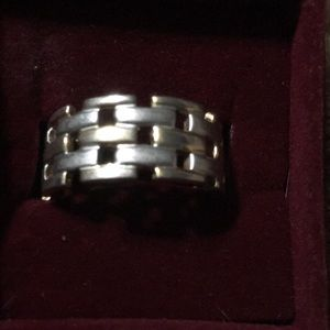 Two Tone Basket Weave Ring size 9